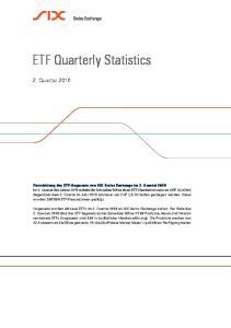 ETF Quarterly Statistics