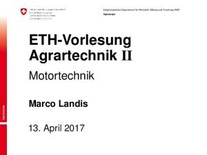ETH-Vorlesung Agrartechnik II