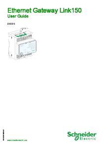 Ethernet Gateway Link150 User Guide