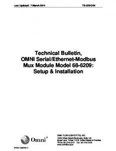 Ethernet-Modbus Mux Module Model : Setup & Installation