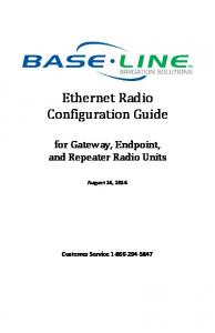 Ethernet Radio Configuration Guide