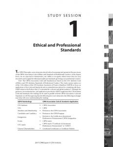 Ethical and Professional Standards