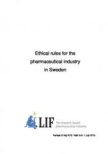 Ethical rules for the pharmaceutical industry in Sweden