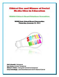 Ethical Use and Misuse of Social Media Sites in Education
