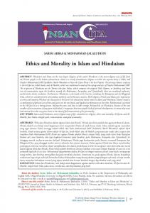 Ethics and Morality in Islam and Hinduism