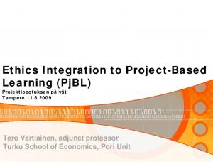 Ethics Integration to Project-Based Learning (PjBL)