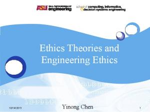Ethics Theories and Engineering Ethics