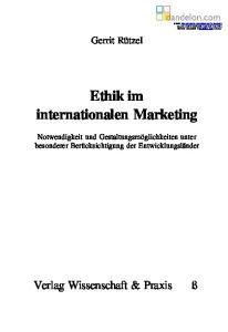 Ethik im internationalen Marketing