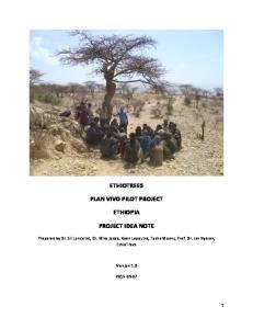 ETHIOTREES ETHIOPIA PROJECT IDEA NOTE