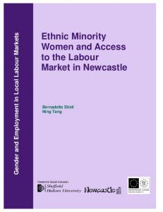 Ethnic Minority Women and Access to the Labour Market in Newcastle