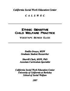 Ethnic Sensitive Child Welfare Practice