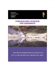 ETHNOGRAPHIC OVERVIEW AND ASSESSMENT