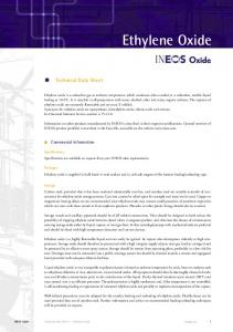 Ethylene Oxide. Technical Data Sheet. Commercial Information