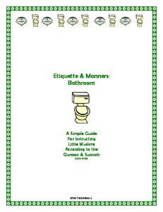 Etiquette & Manners: