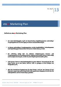 etoxx Marketing Plan 11. April Definition etoxx Marketing Plan