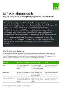 ETP Due Diligence Guide