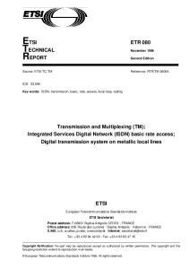 ETSI ETR 080 TECHNICAL November 1996 REPORT
