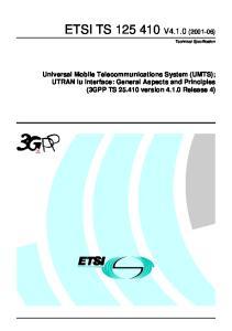 ETSI TS V4.1.0 ( )