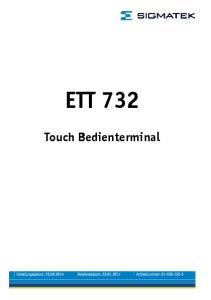 ETT 732 Touch Bedienterminal