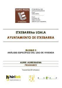 ETXEBARRIko UDALA AYUNTAMIENTO DE ETXEBARRIA