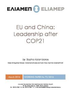 EU and China: Leadership after COP21