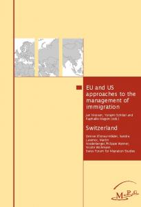 EU and US approaches to the management of immigration