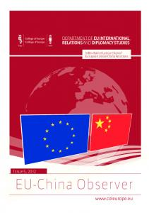 EU-China Observer DEPARTMENT OF EU INTERNATIONAL RELATIONS AND DIPLOMACY STUDIES. Issue 5, 2012
