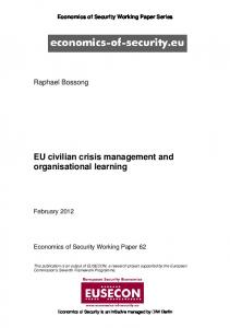 EU civilian crisis management and organisational learning