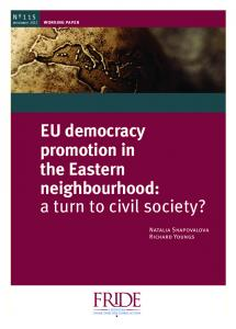 EU democracy promotion in the Eastern neighbourhood: a turn to civil society?