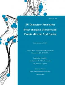 EU Democracy Promotion: Policy change in Morocco and Tunisia after the Arab Spring
