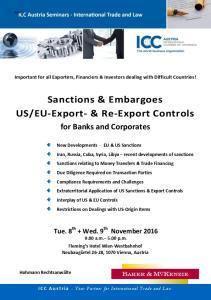 EU-Export- & Re-Export Controls