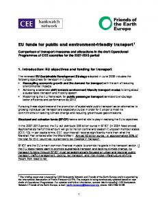 EU funds for public and environment-friendly transport 1