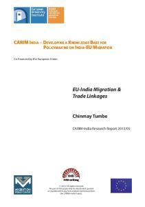 EU-India Migration & Trade Linkages