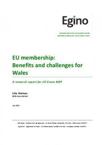 EU membership: Benefits and challenges for Wales
