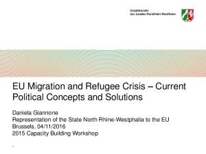 EU Migration and Refugee Crisis Current Political Concepts and Solutions