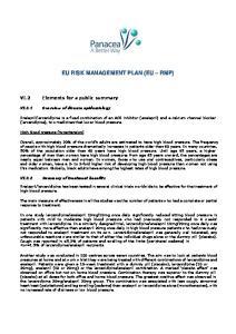 EU RISK MANAGEMENT PLAN (EU RMP)
