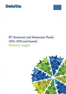 EU Structural and Investment Funds and beyond Deloitte's insights
