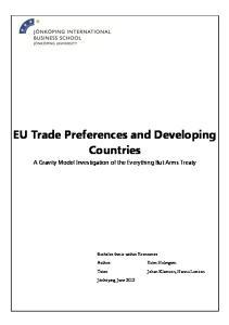 EU Trade Preferences and Developing Countries