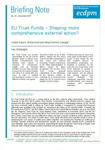 EU Trust Funds Shaping more comprehensive external action?