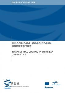 EUA PUBLICATIONS 2008 FINANCIALLY SUSTAINABLE UNIVERSITIES