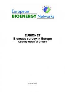 EUBIONET Biomass survey in Europe Country report of Greece