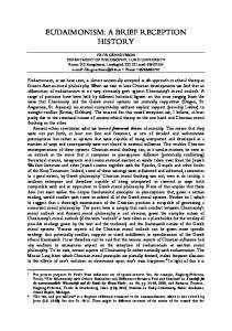 EUDAIMONISM: A BRIEF RECEPTION HISTORY