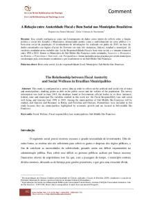 Eugenio dos Santos Miranda 1 ; Deise Cristiane do Nascimento 2