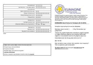 EUMAGINE Soru Formu 5.2 Versiyon ( )