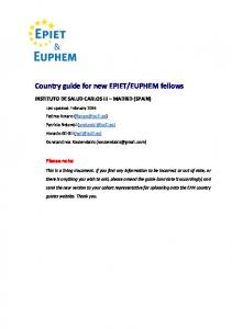EUPHEM fellows