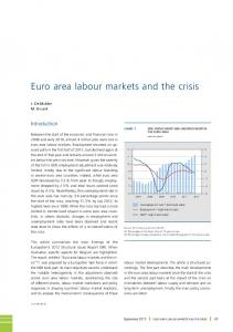 Euro area labour markets and the crisis