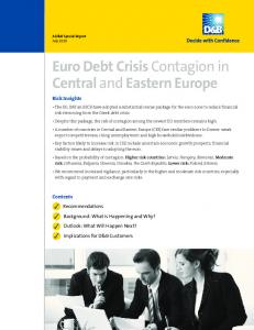Euro Debt Crisis Contagion in Central and Eastern Europe