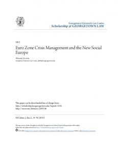 Euro Zone Crisis Management and the New Social Europe