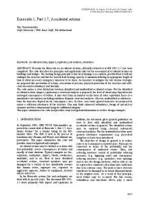 Eurocode 1, Part 1.7, Accidental actions