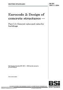 Eurocode 2: Design of concrete structures